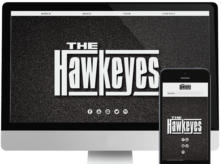 Website Design for Rock band The Hawkeyes