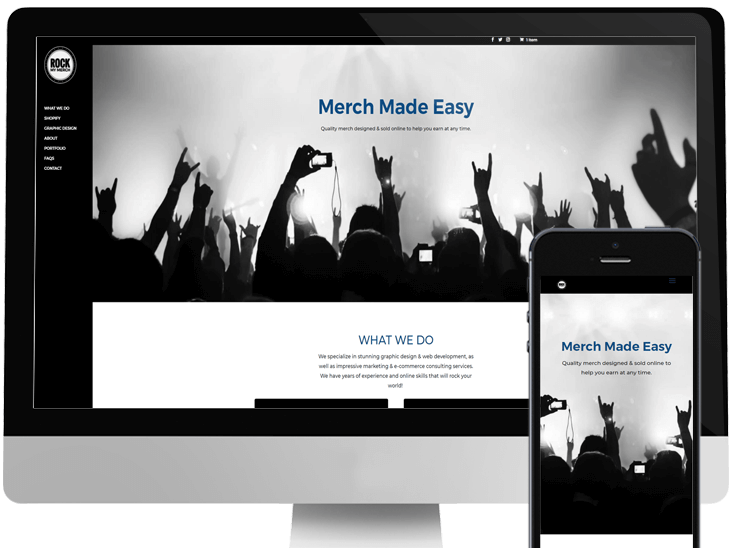 Website Design for Rock My Merch