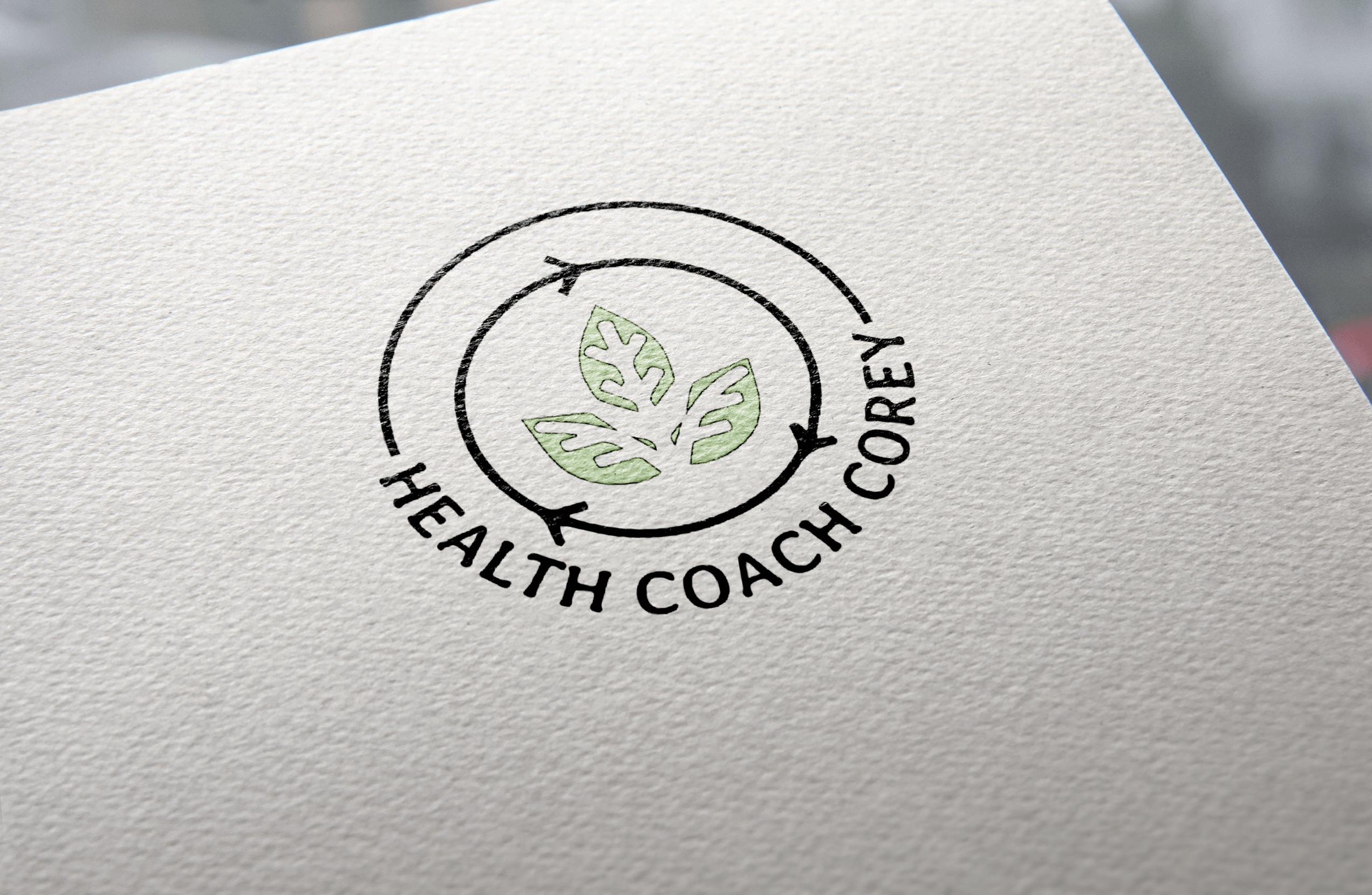 Health Coach Corey Logo mockup